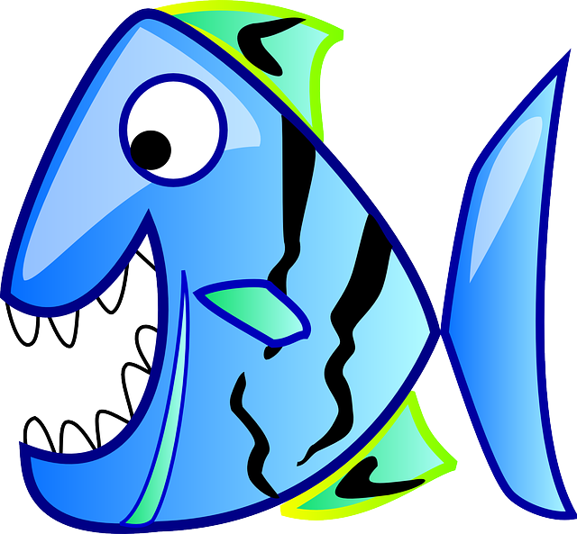Piranha, Fish, Blue, Water, Tropical, Predator, Aquatic