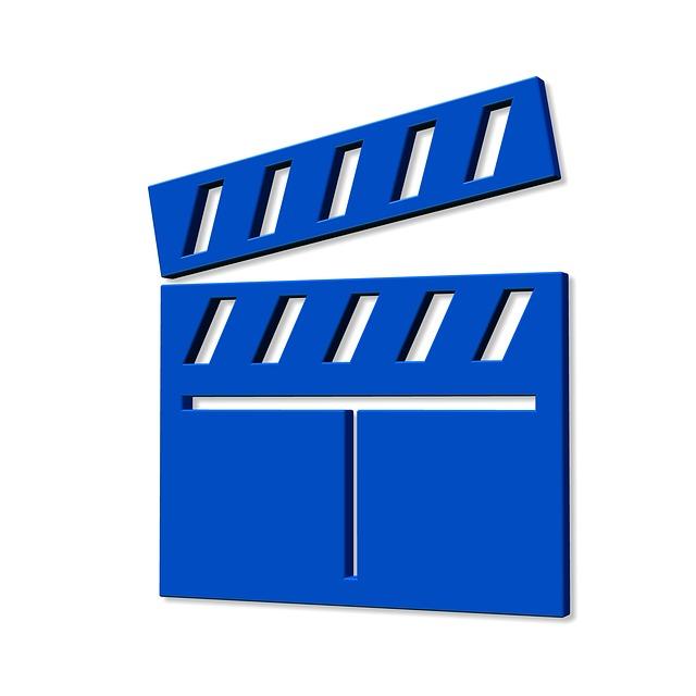 Icon, Blue, Filmklappe, Hatch Synchronously, Flap, Film