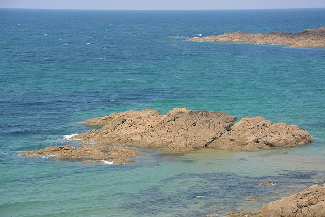 Sea, Blue, Roche, Handle, Water, Saint Malo