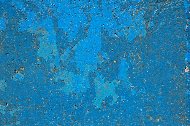 Blue, Concrete, Paint, Texture, Structure, Holes