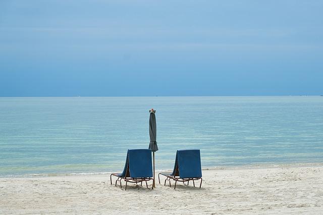 Beach, Blue, Sky, Horizontal, Asia, South Asia, Holiday