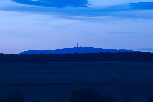 Blue Hour, Boulder, Resin, Landscape, View