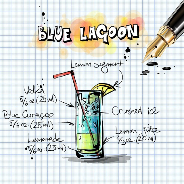 Blue Lagoon, Cocktail, Drink, Alcohol