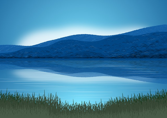 Landscape, Nature, Mountains, Sky, Blue, Lake, Water