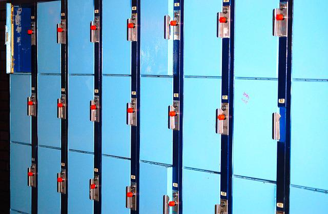 Blue Lockers, School Lockers, Storage