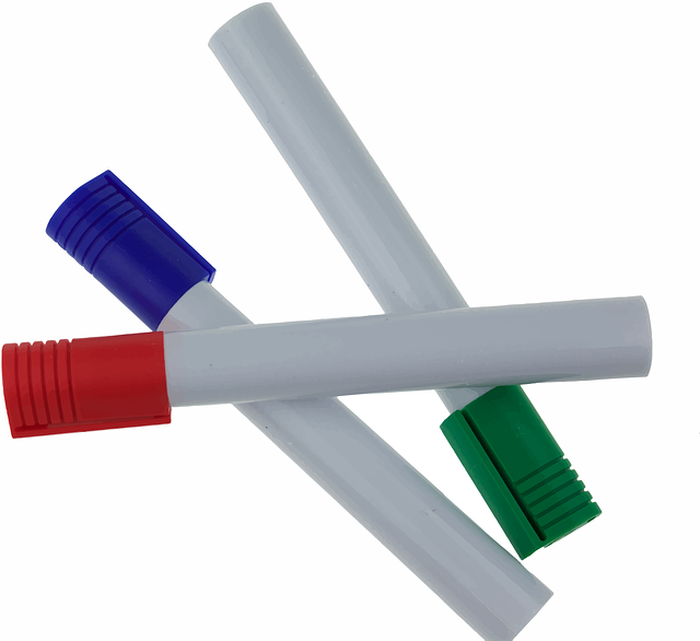 Markers, Red, Blue, Green