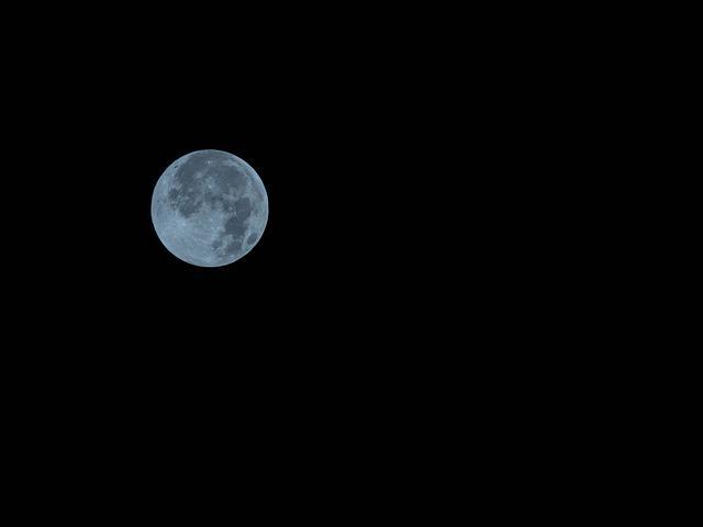 Full Moon, The Night Sky, Moon, Blue Moon