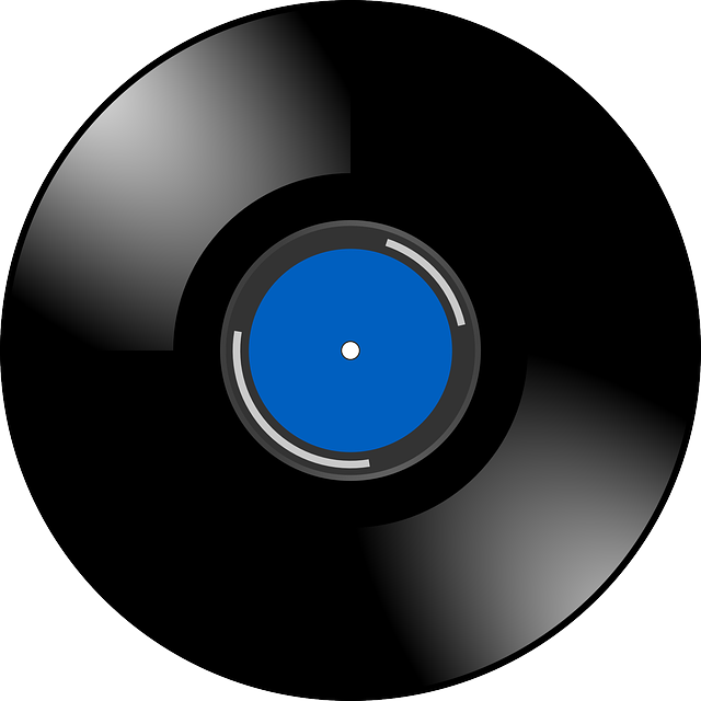 Vinyl, Record, Sound, Music, Retro, Blue, Shiny