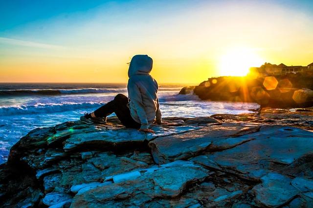 Sunset, Santa Cruz, Water, Blue, Sky, Sea, Ocean