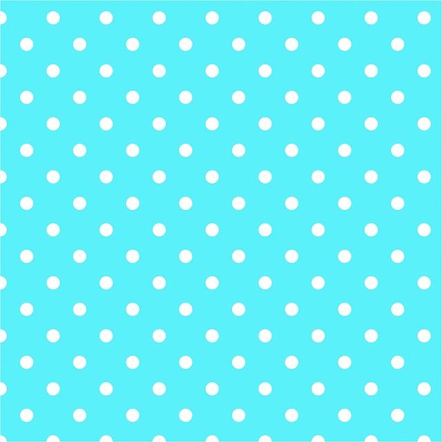 Polka Dots, Aqua, Blue, White, Spots, Dots, Background