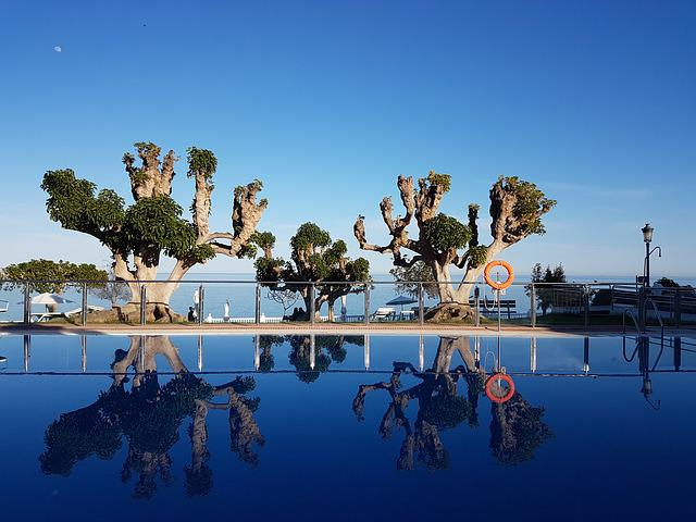 Sky, Pool, Highlights, Mirror, Summer, Blue, Luxury