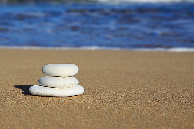 Beach, Rocks, Balance, Blue, Coastline, Heap, Ocean
