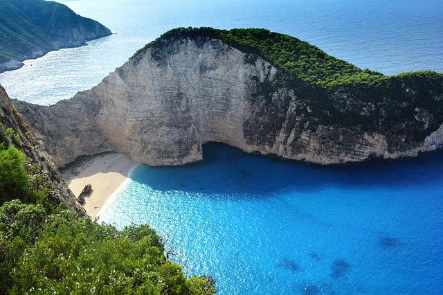 Greece, Navagio Beach, Beach Castaway, Blue Sea