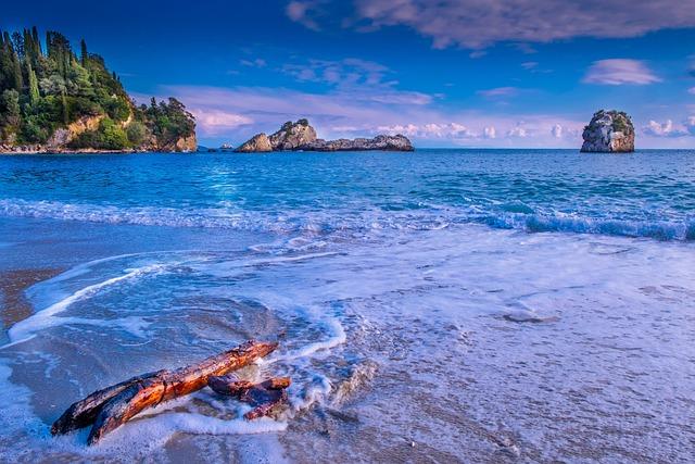 Beach, Sea, Island, Greece, Blue, Landscape, Nature