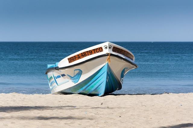 Boat, Beach, Sea, Summer, Water, Ocean, Blue, Sky, Sand
