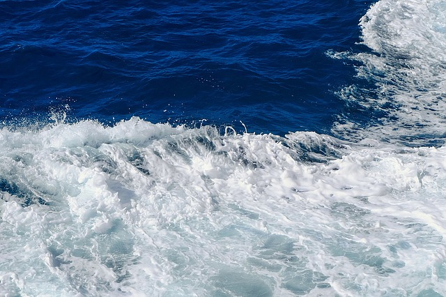 Wave, Sea, Surf, Water, Blue