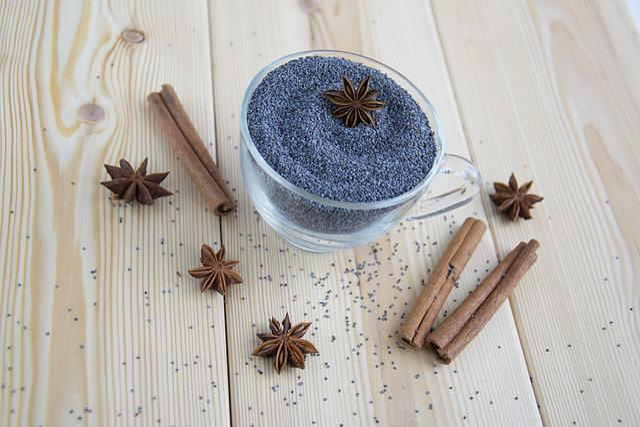 Spices, Mack, Blue, Seasonings, Seeds, Star Anise