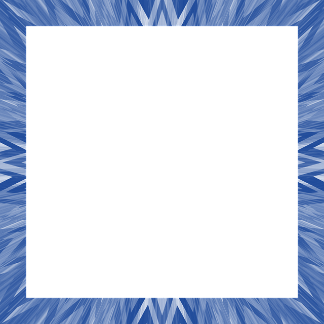 Blue, Radiates, Abstract, Frame, Border, Shades, Shapes