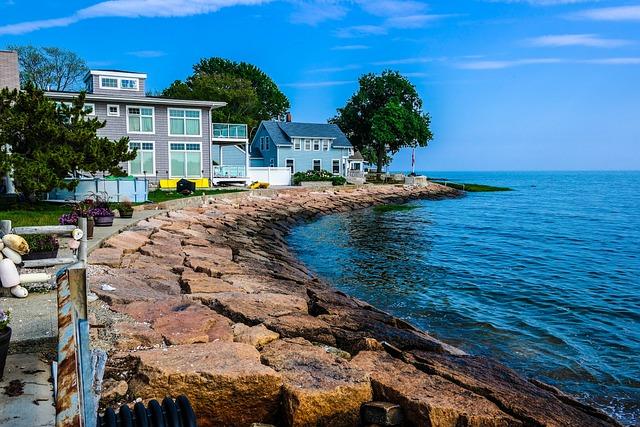Beach Front, Water, Ocean, Beach House, Blue Skies