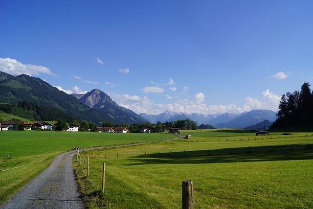 Oberallgäu, Blue Sky, Allgäu, Landscape, Alpine