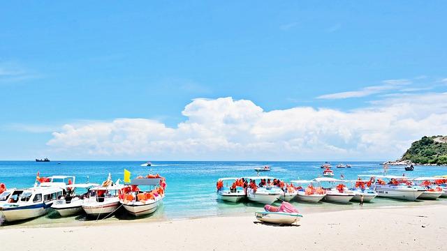 Vietnam, Danang, Beach, Travel, Boat, Sky, Blue