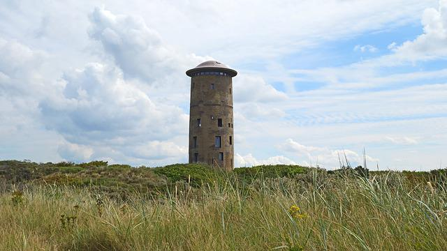 Domburg, Coast, Dunes, Lighthouse, Blue Sky, Dune