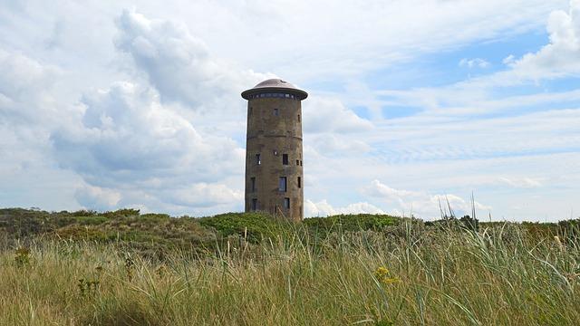 Domburg, Coast, Dunes, Lighthouse, Blue Sky, Dune