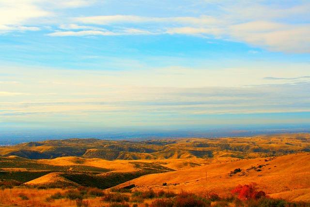 Boise, Desert, Blue Sky, Sand, Dry Mountains, Mountains