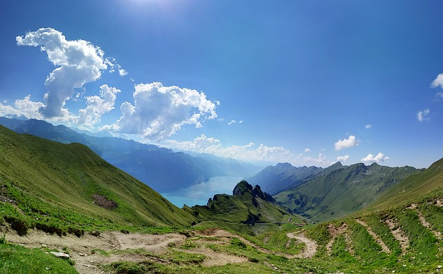 Mountain, Switzerland, Brienz, Alps, Lake, Blue Sky