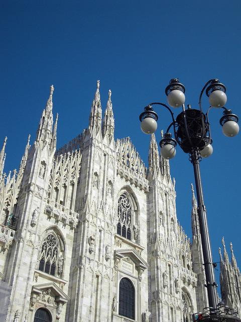 Milan, Lantern, Blue Sky