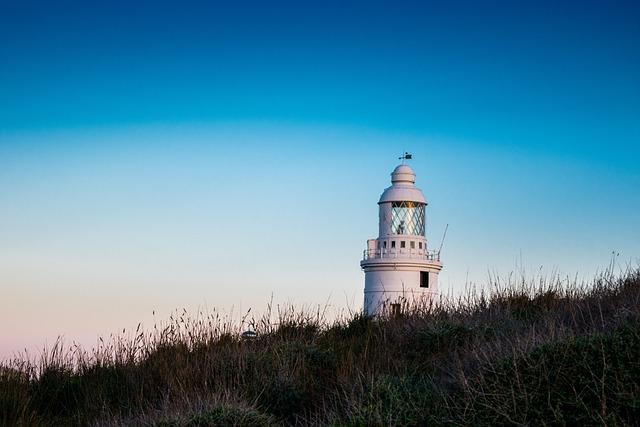 Lighthouse, Sea, Costa, Sky, Port, Gibraltar, Blue