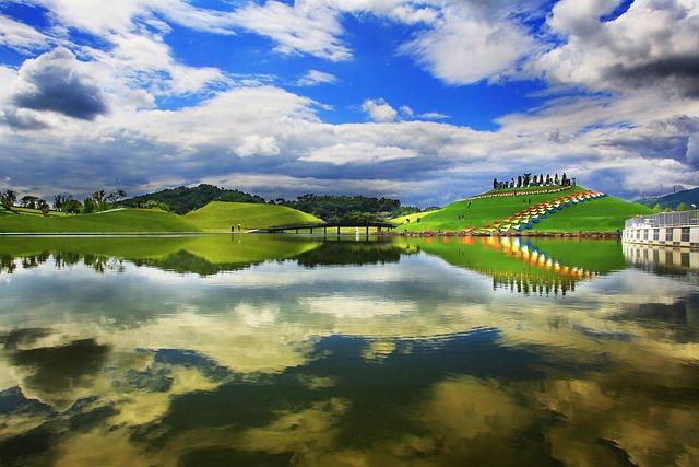 Suncheon Bay, Sky, Cloud, Blue, Blue Sky