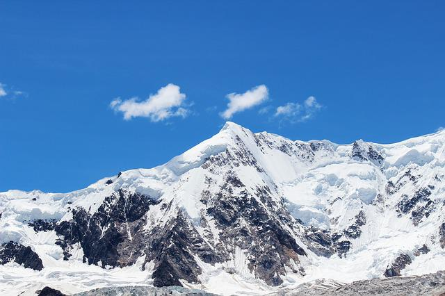 Blue Sky, Snow Mountain, Mountain