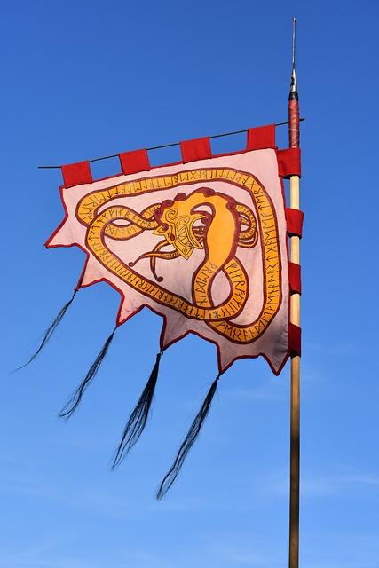 Flag, Banner, Symbol, Flutter, Air, Blue Sky
