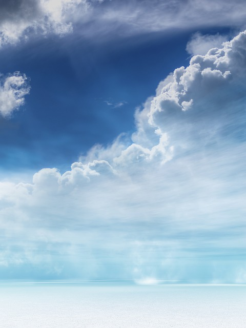 Landscape, Clouds, Snow, Sky, Wind Shear, Blue, Winter
