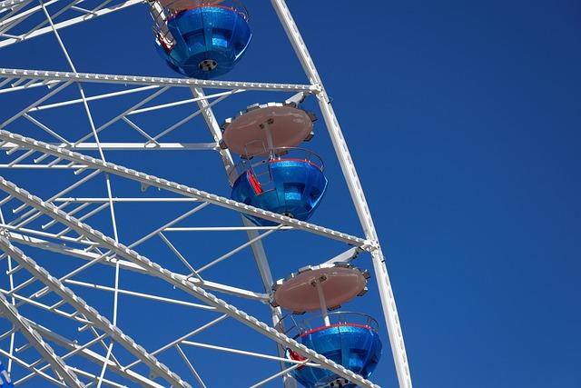 Carousel, Sommerfest, Sky, Blue