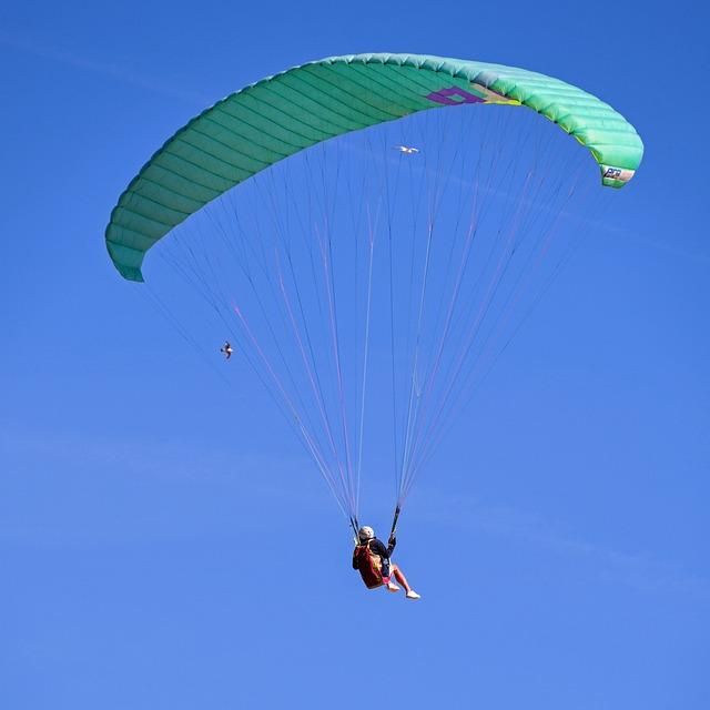 Paragliding, Fly, Sport, Sky, Blue