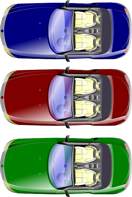 Cars, Transportation, Road, Blue, Red, Green, Colours