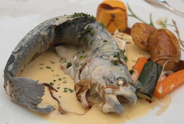 Kitchen, Gastronomy, Trout, Blue Trout, Rainbow Trout