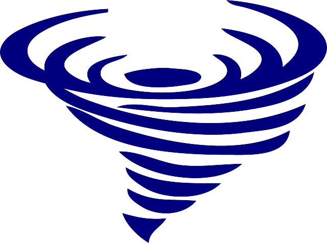 Twister, Tornado, Typhoon, Spiral, Blue, Weather, Storm