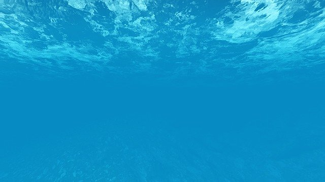 Sea Water, Blue Water, Under The Sea, Watermark, Blue