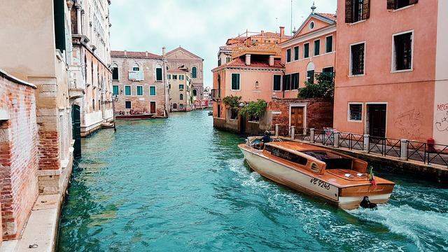Venetian, Italy, Boat, Blue, Vittorio Emanuele Monument