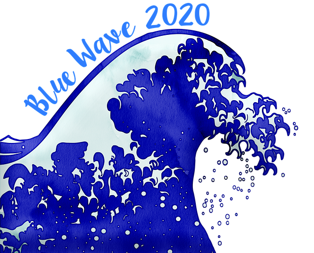 Watercolor Wave, Blue Wave 2020, Election