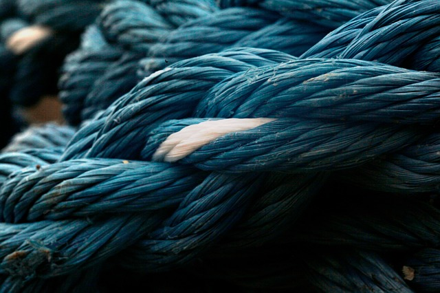 Rope, Twist, Blue, Yarn, White, Strong, Plait, Twisted