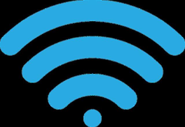 Wireless Signal, Icon, Image, Vector, Blue, Wi-fi