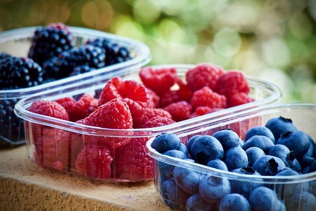 Berries, Fruit, Nutrition, Blueberries, Raspberries