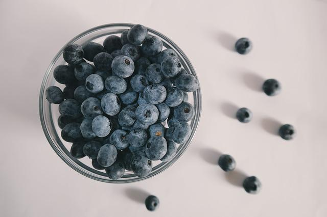Berries, Blue, Blueberries, Blueberry, Food, White