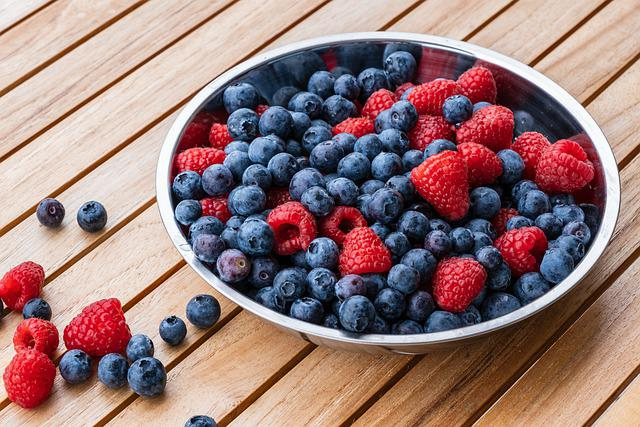 Raspberries, Blueberry, Fruit, Food, Fresh, Berries