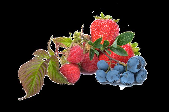 Blueberry, Raspberry, Strawberry, Fruit