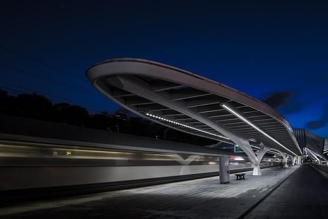 Architecture, Bench, Blur, Evening, Lights, Metro